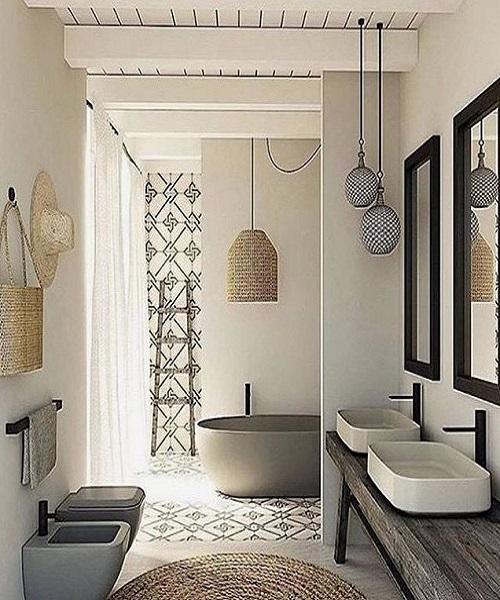 la salle de bain scandinave beige design int rieur. Black Bedroom Furniture Sets. Home Design Ideas