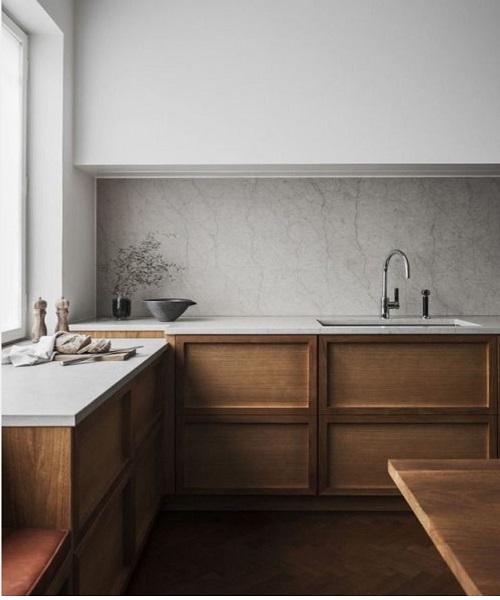 La cuisine transitionnelle beige design int rieur for Cuisine interieur design