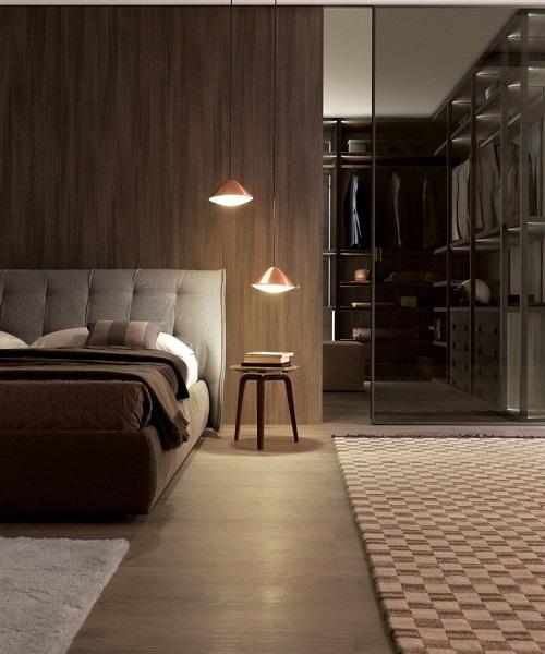 La chambre coucher et son walk in int gr beige design for Chambre walk in