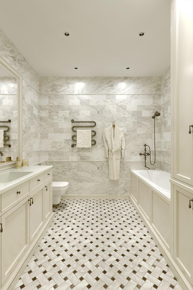 Salle De Bain Low Cost salle-de-bain-classique - beige design intérieur