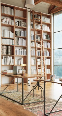 design intrieur bibliothque