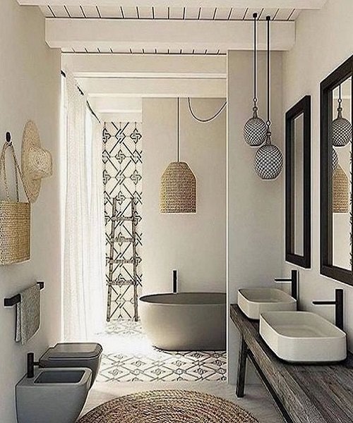 Scandinavian Bathroom Design Ideas: Beige Design Intérieur